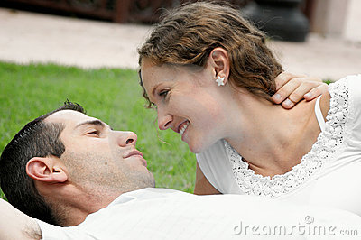Romantic Image Of Beautiful Couple Smiling At Each Royalty Free Stock Photos - Image: 9453418
