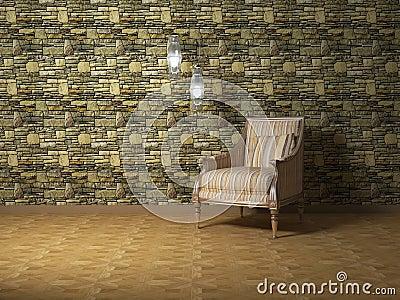 Romantic interior design of modern room