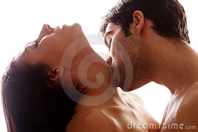 Romantic Kiss On Throat