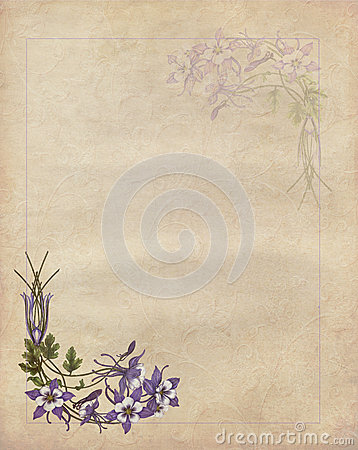 Romantic letter with flowers