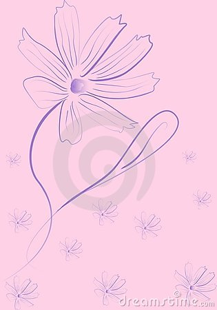 Romantic lilac flower