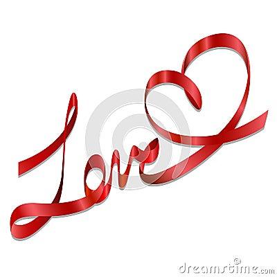 Romantic love gift bows ribbon vector