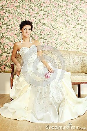 Romantic mature bride