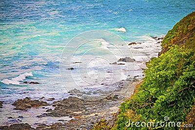Romantic ocean coast