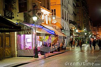 Romantic Paris street café Editorial Stock Image