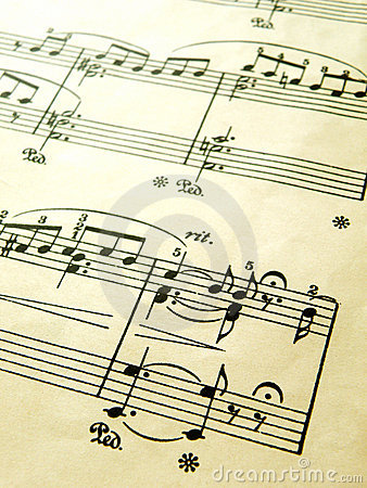 Free Romantic Piano Music Score, Old Vintage Stock Photography - 6331082