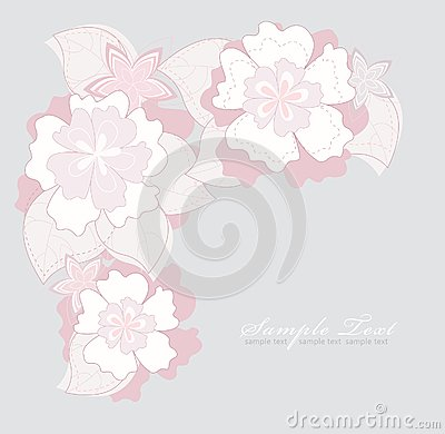 Romantic Pink Flower Background