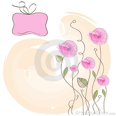 Romantic pink flowers background