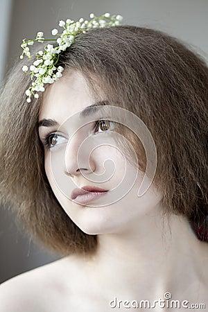 Romantic portrait of young beautiful girl