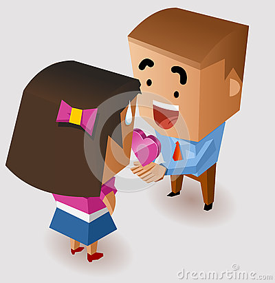Romantic proposing on Valentine