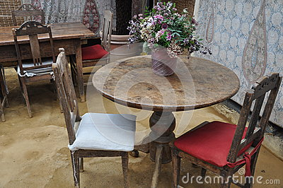 Romantic event restaurant  table