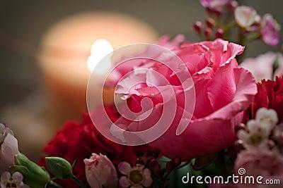 Romantic Rose in an arrangement