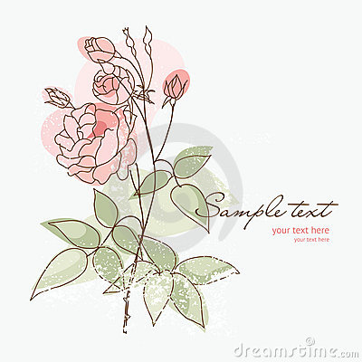 Romantic rose for your greeting card