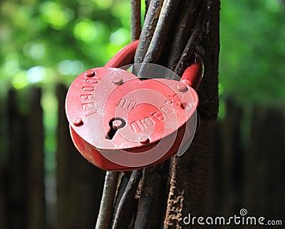 Romantic russian love lock.