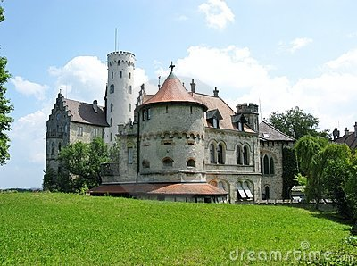 The romantic schloss of Lichtenstein