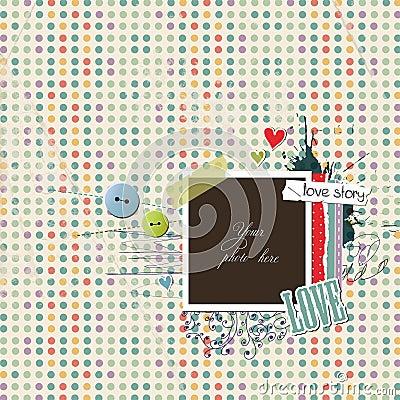 Romantic scrap template