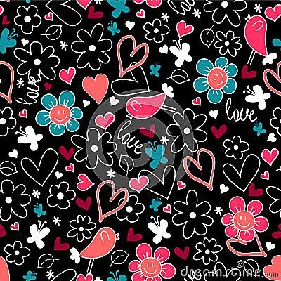 Romantic seamless background