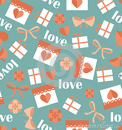 Free Romantic Seamless Pattern With Hearts Stock Photo - 48106080