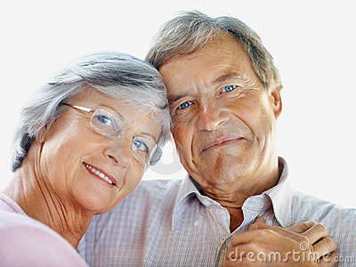 Romantic senior couple spending time together