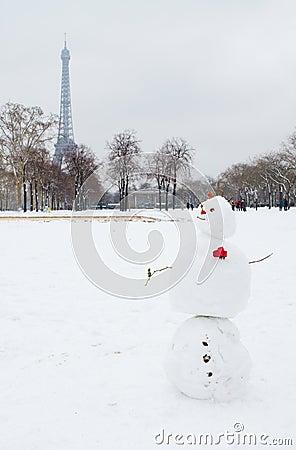 Romantic snowman