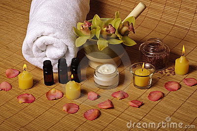 Romantic spa setting
