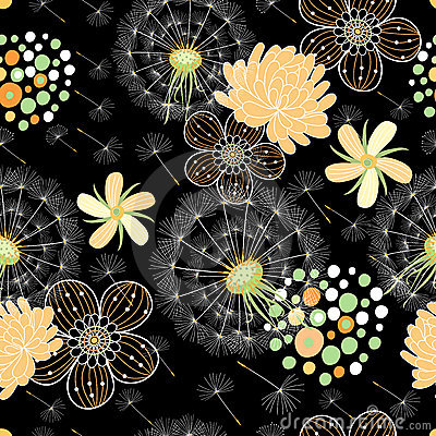 Romantic summer floral pattern