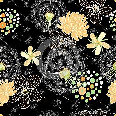Romantic summer floral pattern