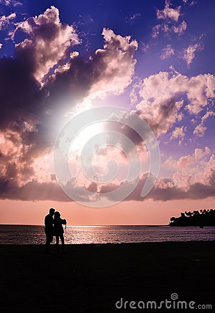 Free Romantic Sunset Royalty Free Stock Photography - 43413327