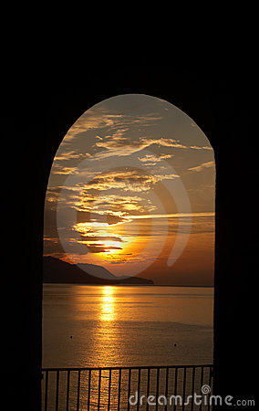Romantic sunset - from luxury villa in Spain