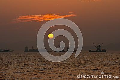 Romantic sunset in Magic Hour