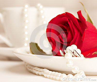 Romantic table served