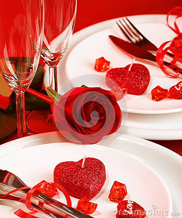 Free Romantic Table Setting Royalty Free Stock Images - 29000459
