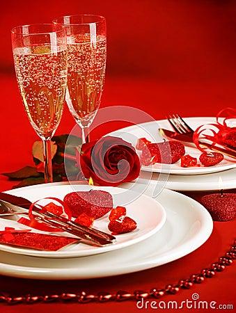 Free Romantic Table Setting Stock Image - 29000501