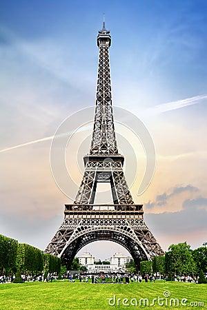 Romantic tower in Paris