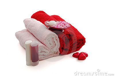 Romantic Valentine Day SPA set with two heart sha