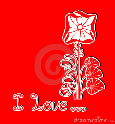 Romantic vector red floral background