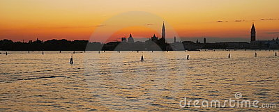 A romantic venetian sunset