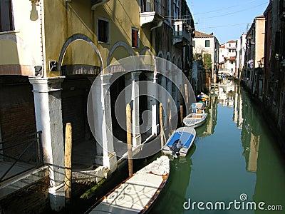 Romantic Venice canal boats