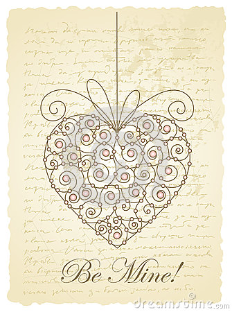 Romantic vintage card