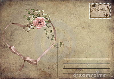 Romantic vintage postcard