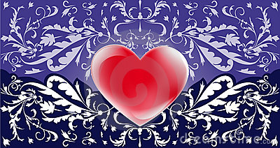 Romantic violet background