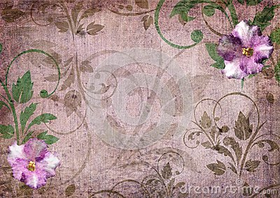 Romantic violet scrapbook background
