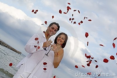 Romantic wedding on beach