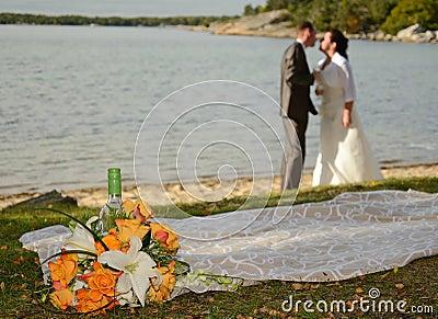 Romantic wedding scenery
