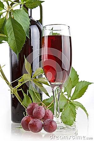 Romantic wine still-life