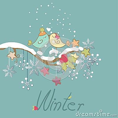 Romantic winter card