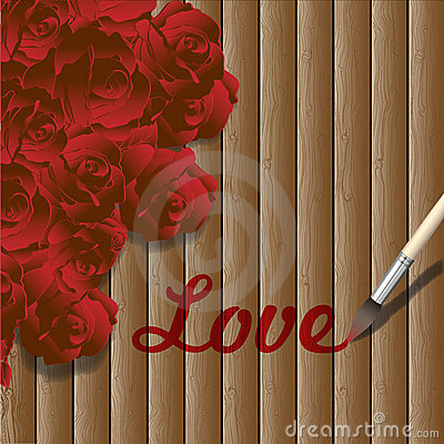 Romantic wooden background