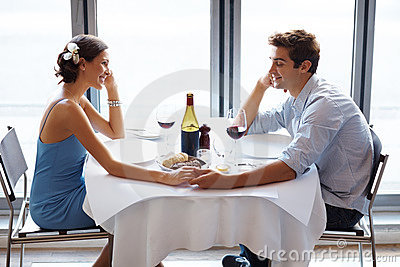 Romantic young couple on a date