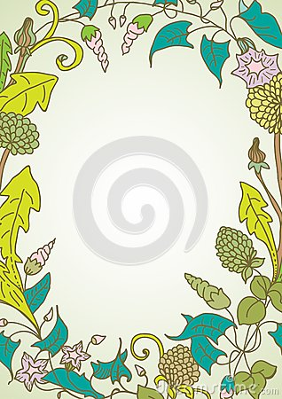 Romantische achtergrond met wilde bloemkroon