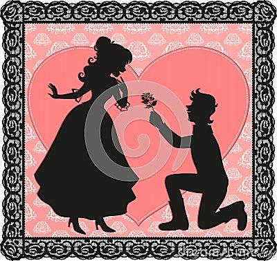 Romantische Geste